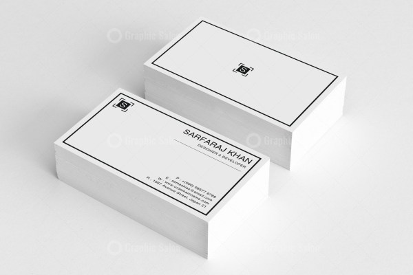 White Simple Business Card