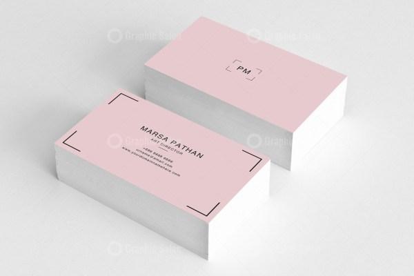 Pinkish Classic Business Card 1