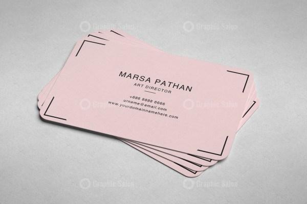 Pinkish Classic Business Card