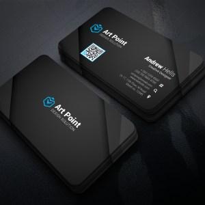 Black Professional Corporate Visit Card Template