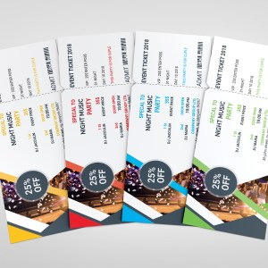 PSD Classy Ticket Template