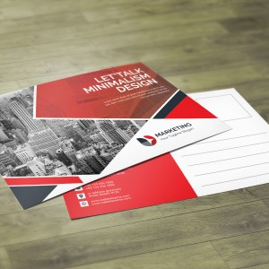 PSD Creative Postcard Design