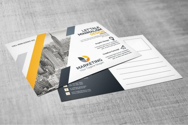 PSD Elegant Postcard Design