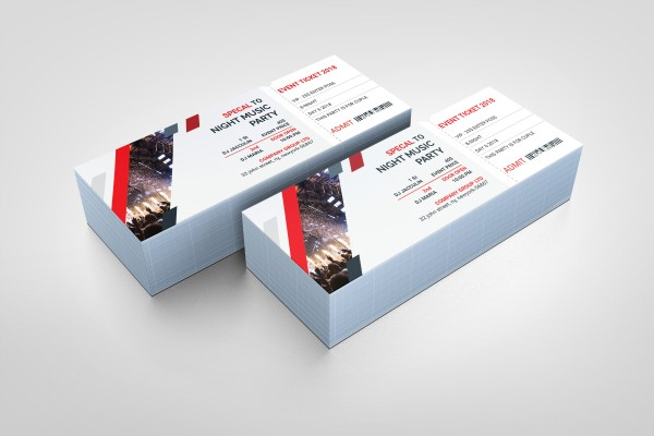 PSD Elegant Ticket Template