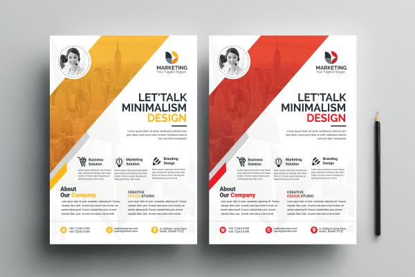 PSD Minimal Flyer Templates
