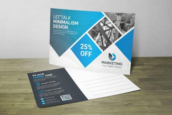 PSD Modern Postcard Design
