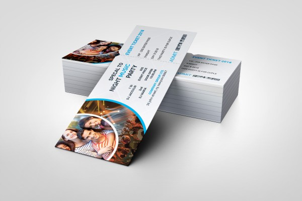 PSD Stylish Ticket Template
