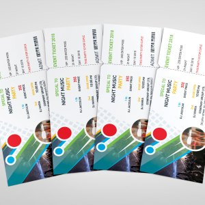 Top PSD Event Ticket Template