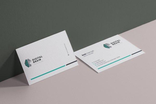 Digital Brain Visit Card Template