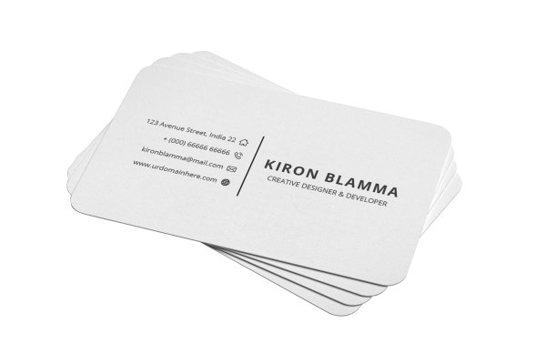 White Classic Business Cards