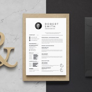 A4 Vector Resume Template