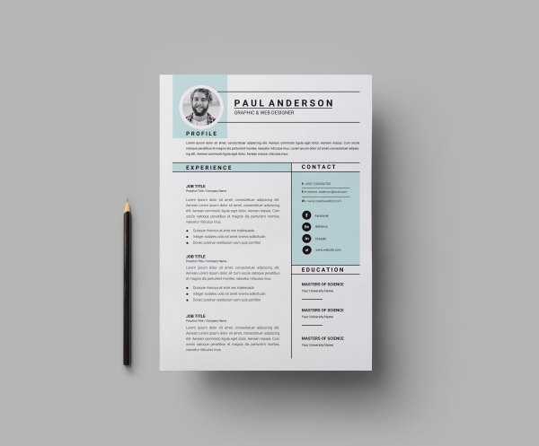 Clean Print Resume Templates