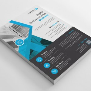 Creative A4 PSD Flyer Template