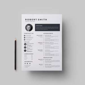 Plain Vector Resume Template