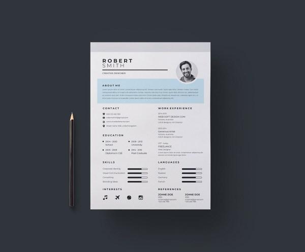 A4 Sleek Resume Template