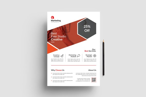 Elegant Business PSD Flyer Templates