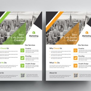 Creative Corporate PSD Flyer Templates