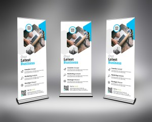 PSD Roll-Up Banner Template 1