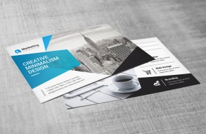 PSD Stylish Business Postcards