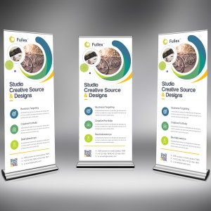 PSD Elegant Roll Up Banner
