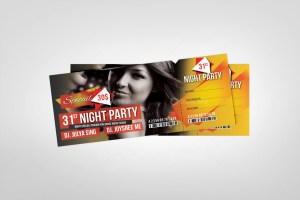 PSD Event Ticket Design