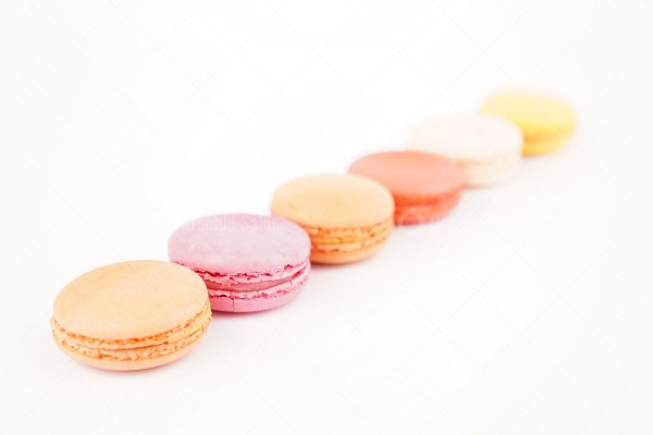 Colorful french macaroons stock photo