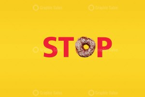 Stop word made with donut