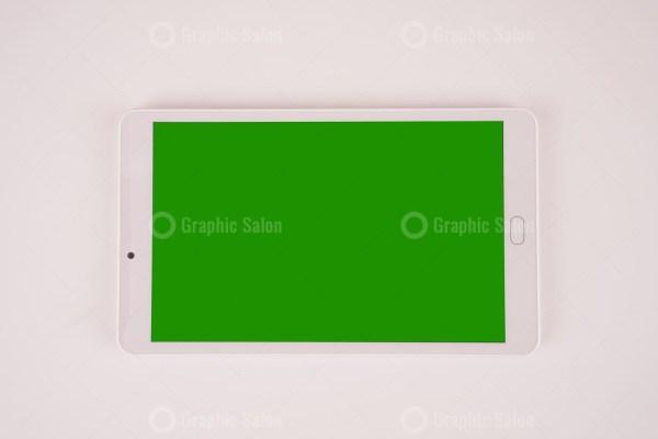 White tablet pc stock photo