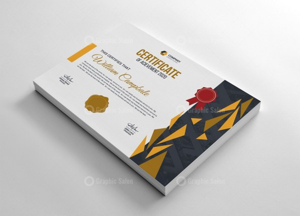 High Quality Certificate Template