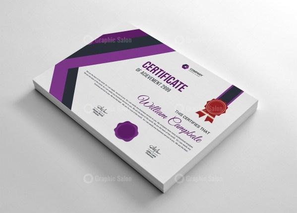 Stripe Certificate Template