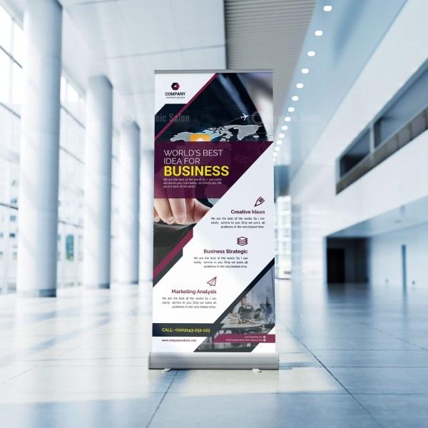 Business Roll-Up Banner Design