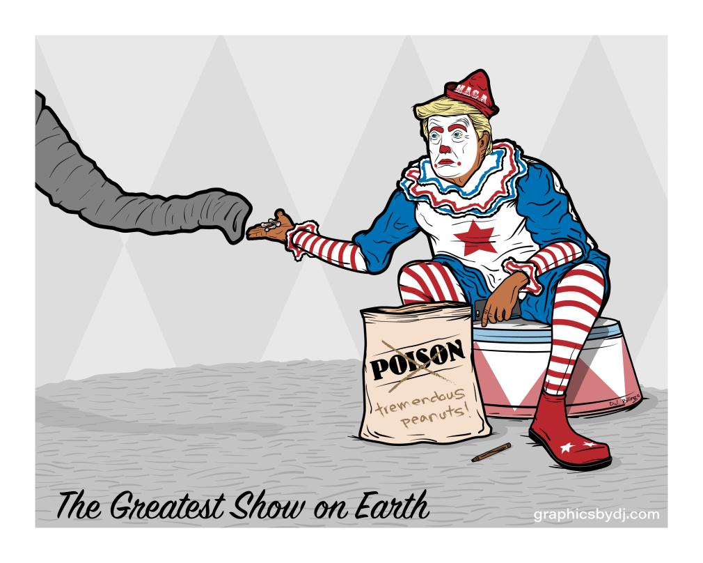 Trump as a clown