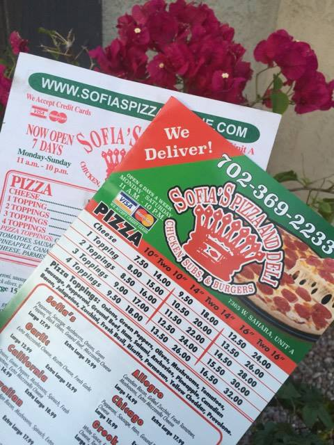 Sofia's Pizza & Deli Menu Redesign