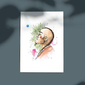Poster portrait d'un homme surréaliste