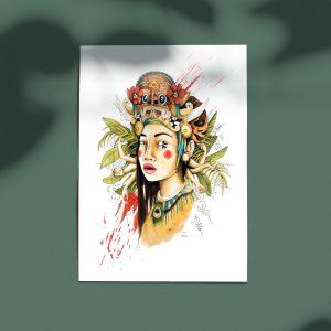 poster femme indonesienne surrealiste
