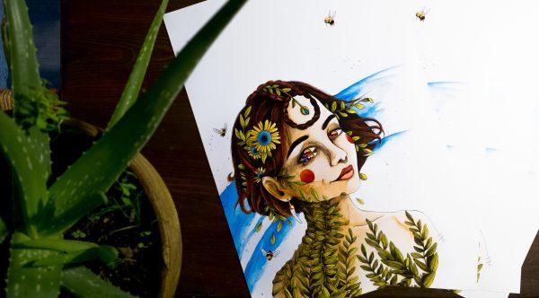 Poster edition limité, portrait féministe