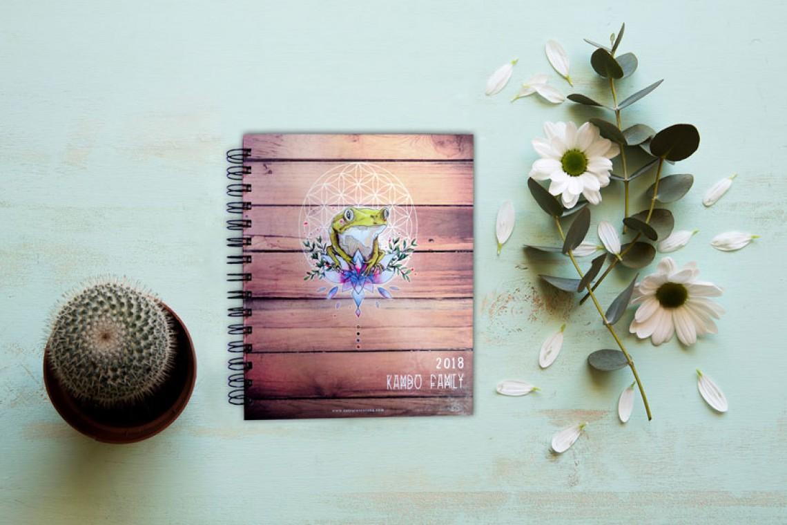dessinateur couverture livre notes fleur de vie kambo nature