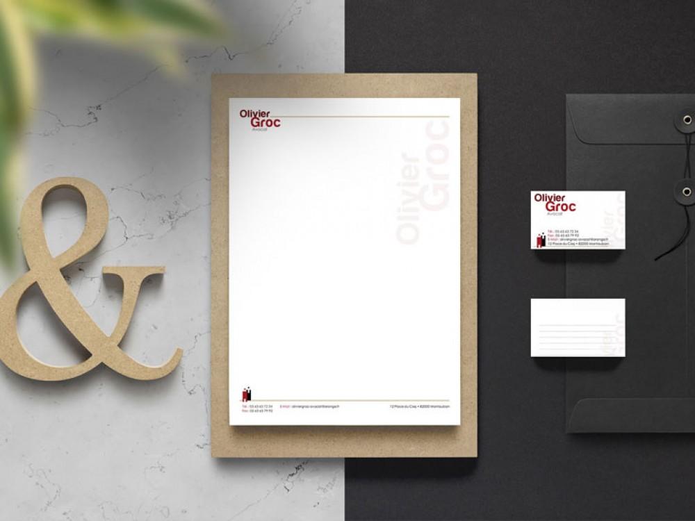 identite visuelle avocat sobre et minimaliste