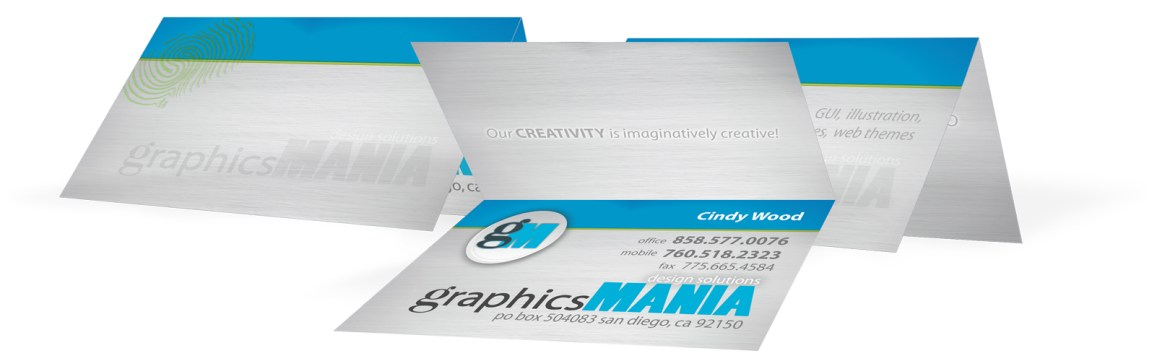 graphicsMANIA : Business Card foldover