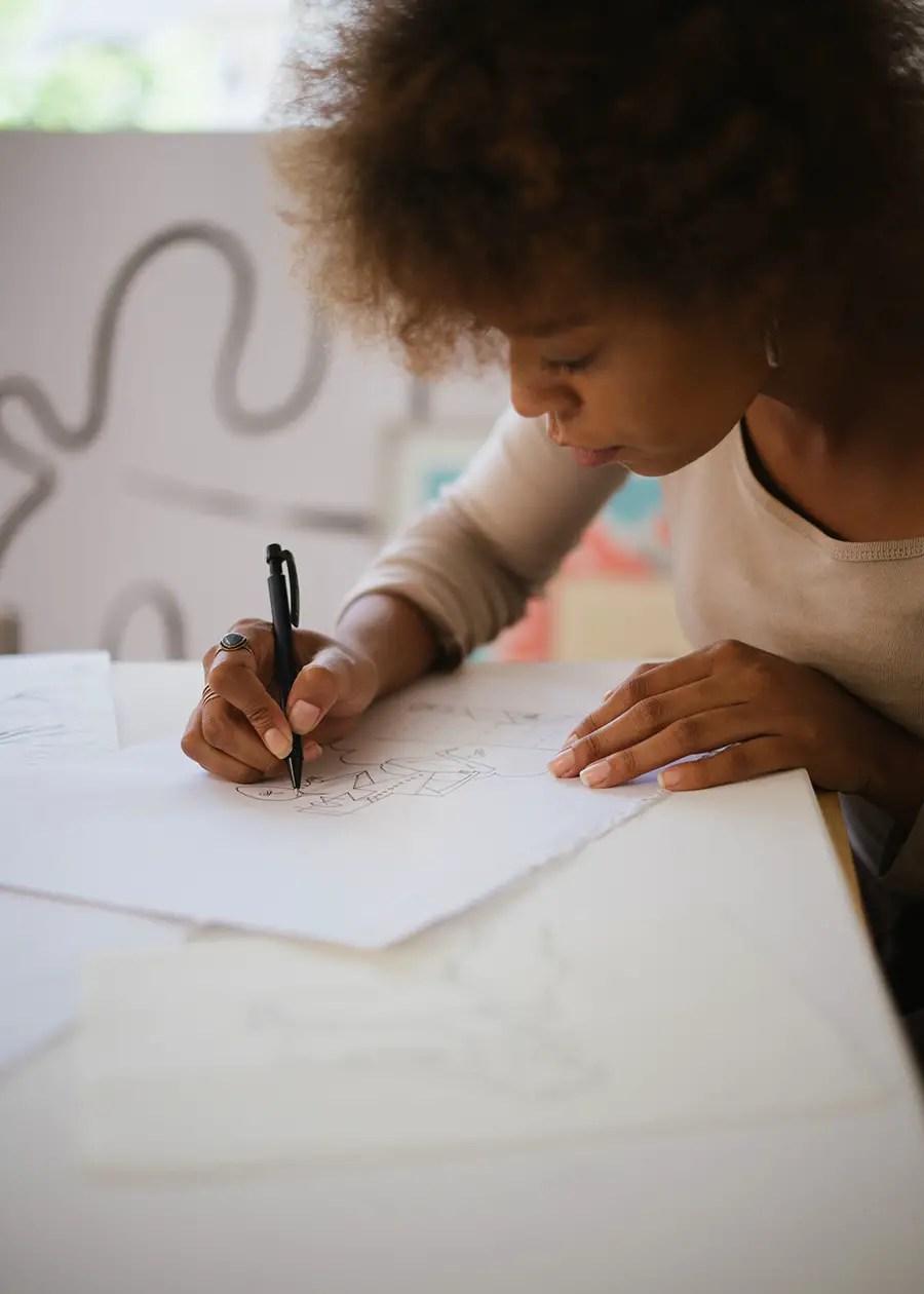 Illustrator working