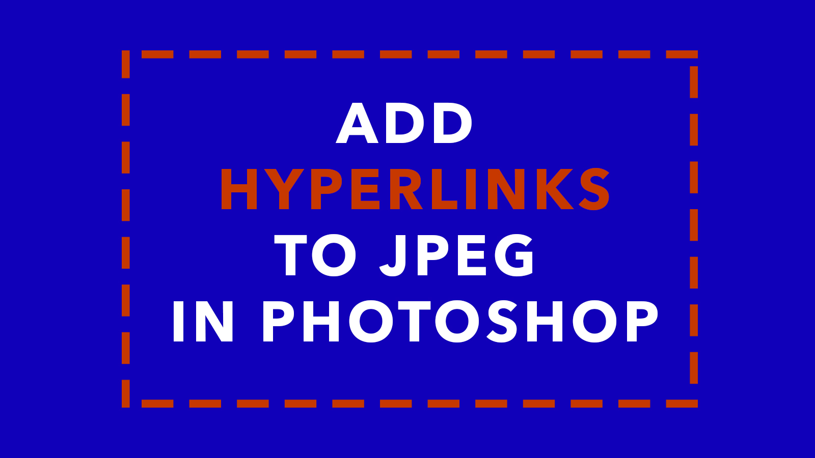 how to add hyperlinks to jpeg in photoshop