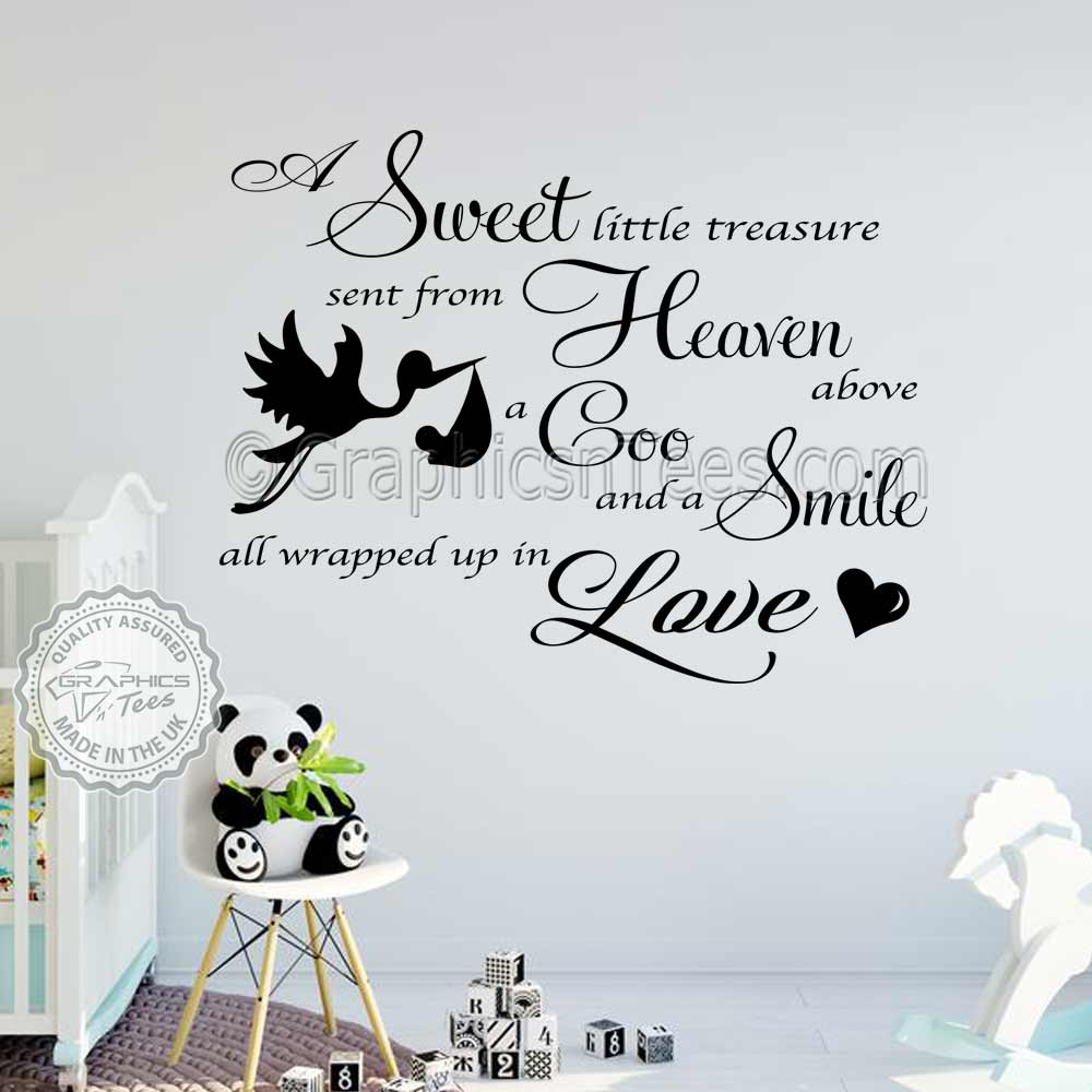 Boys Girls Nursery Wall Sticker Baby Bedroom Wall Quote