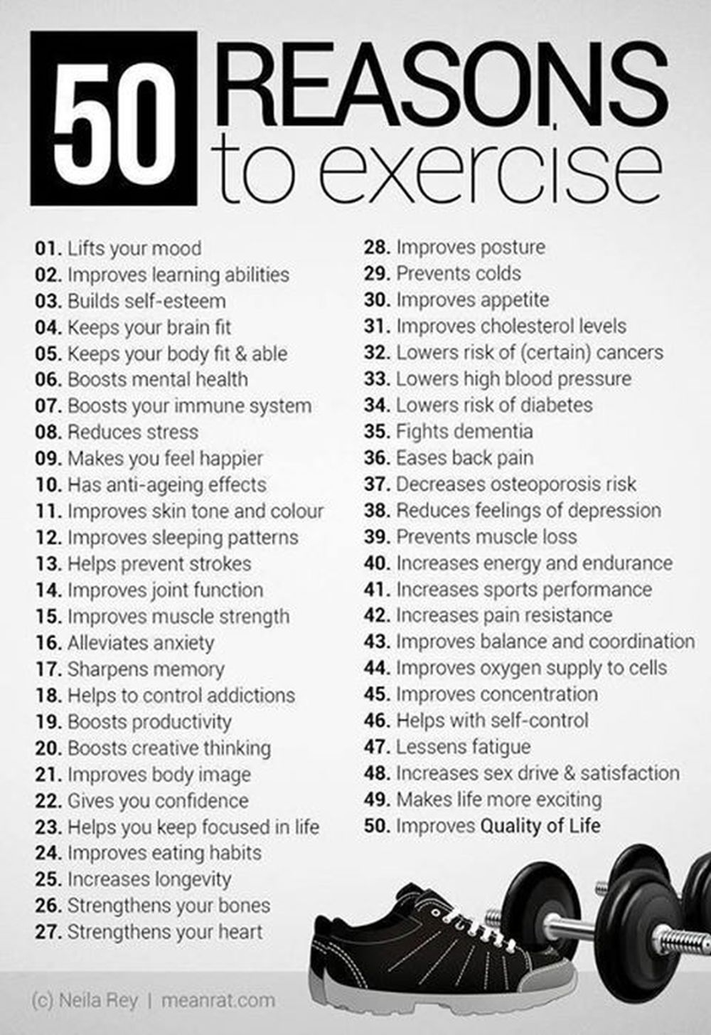 50 Reasons Why You Should Exercise