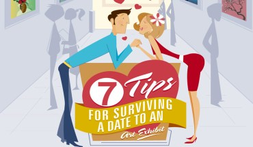 7 Tips For Surviving A Date To An Art Exhibit - Infographic