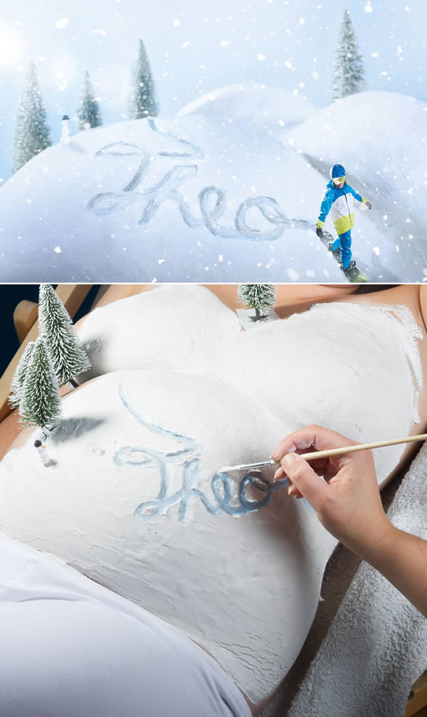 Pictures Of Pregnant Bellies Being Used As A Canvas  (2)
