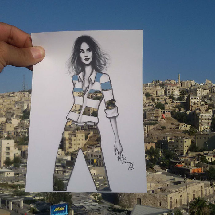 Shamekh Bluwi Uses The Environment To Complete His Fashion Illustrations (15)