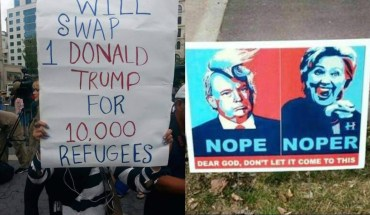 14 Hilarious Political Signs From The 2016 Presidential Campaign