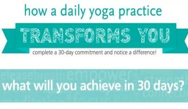 Take The Yoga 30-Day Challenge - Infographic