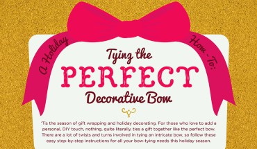DIY - Perfect Bow Ribbons On Gifts - Infographic