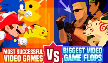 Video Games Throughout The Decades: Biggest Hits Vs Biggest Flops! - Infographic